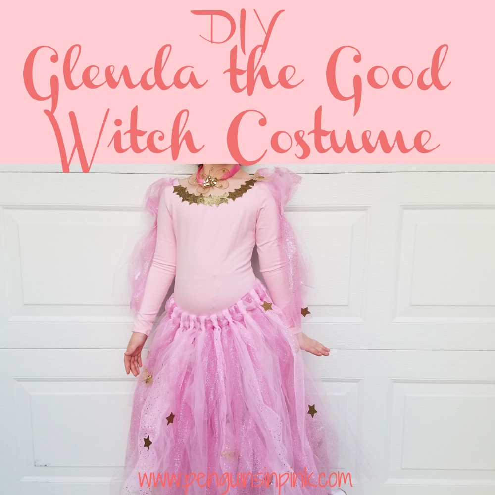 This DIY Glenda the Good Witch Costume is super adorable and fairly easy to make. The base of the costume is made with a ballet leotard and tights.