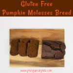 A slightly sweet gluten free pumpkin molasses bread with the rich, full-bodied robust flavor of molasses combined with pumpkin puree, almond meal, and vanilla.