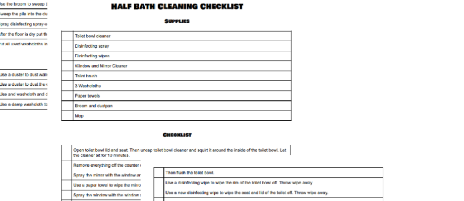 How to Create a Customized Chore Checklist in Google Docs