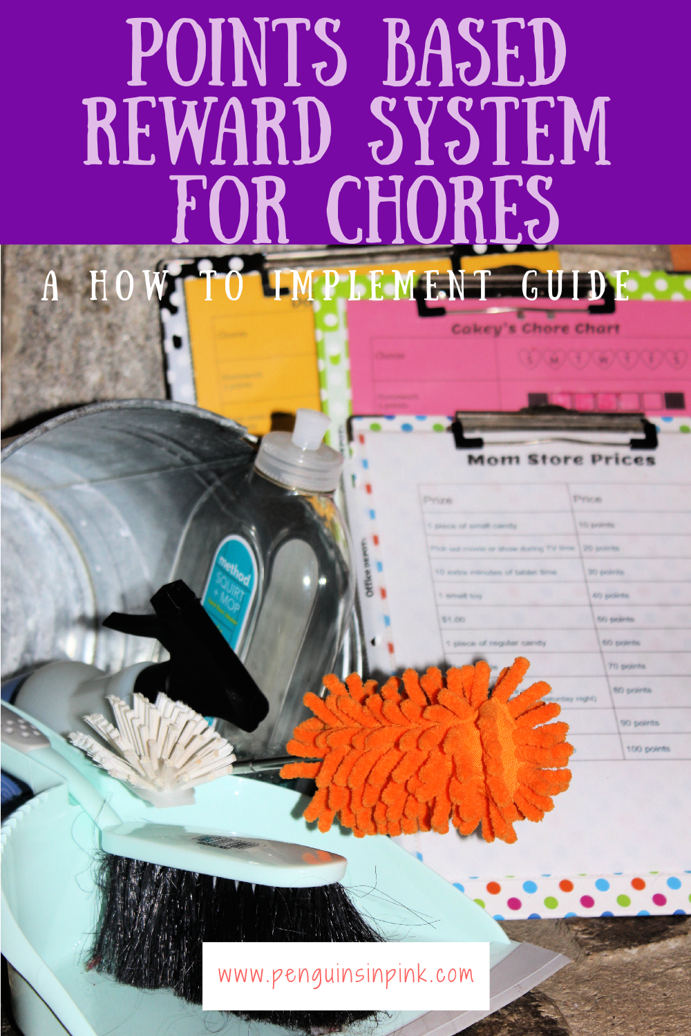 Looking to implement a points based reward system for chores? Learn the 3 things you need in order to implement a points based reward system for chores along with why to use it and how to get started.