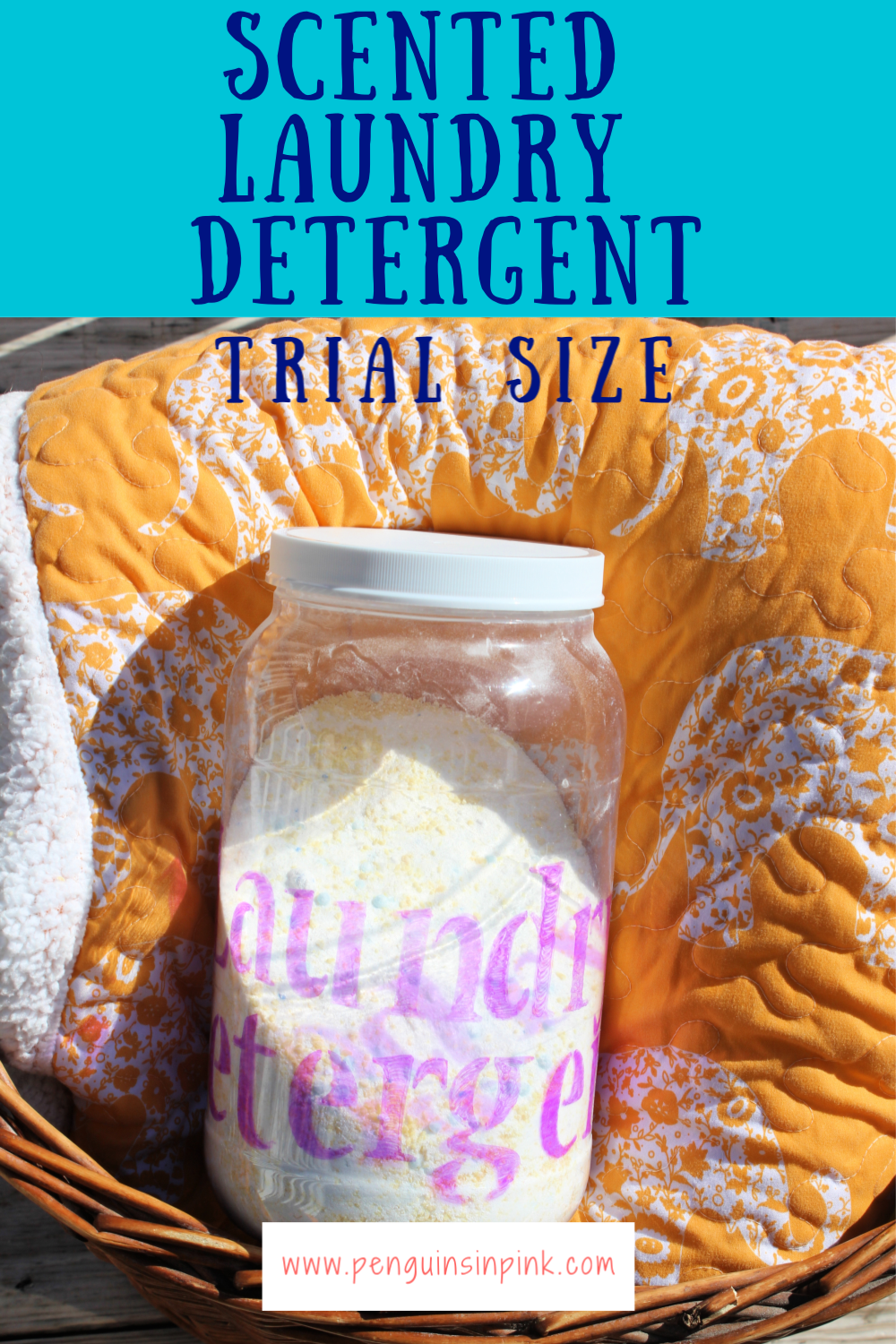 Trial Size Scented Laundry Detergent is perfect for you to test out if homemade laundry detergent is right for your family. It makes about 101 loads worth of detergent for less than $8.