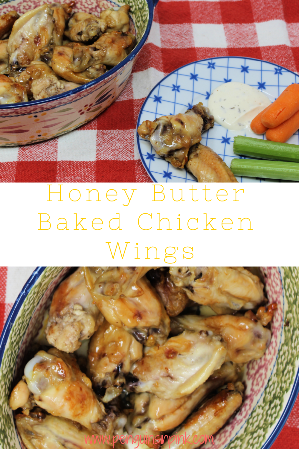 Honey and butter combine to smother baked chicken wings creating a delicious sweet baked chicken wings. Perfect for kids to eat and make!