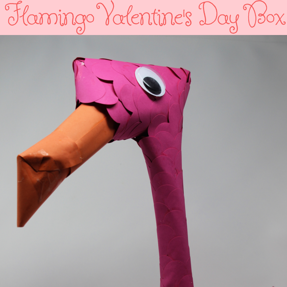 This Flamingo Valentine's Day Box is perfect for your flamingo lover. The box is fun and unique. Working together this project can be completed in about an hour and half.