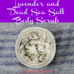 Lavender and Dead Sea Salt Body Scrub is a quick, easy to make body scrub packed with detoxifying dead sea salt, relaxing lavender, and moisturizing oil. Makes a wonderful gift.
