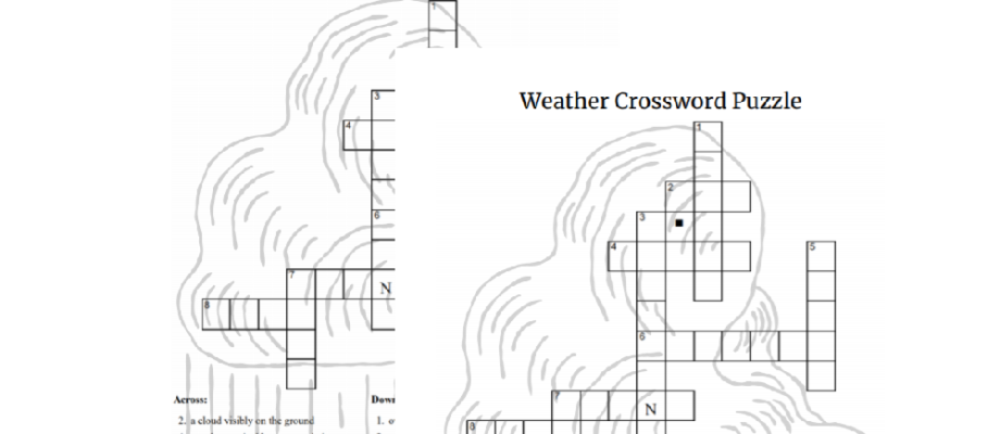 Printable Severe Weather Themed Crossword Puzzle