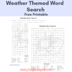 This FREE Printable Word Search is an easy way to help kids review their weather words or terms. There are 30 words in the word search. An answer key is also included.