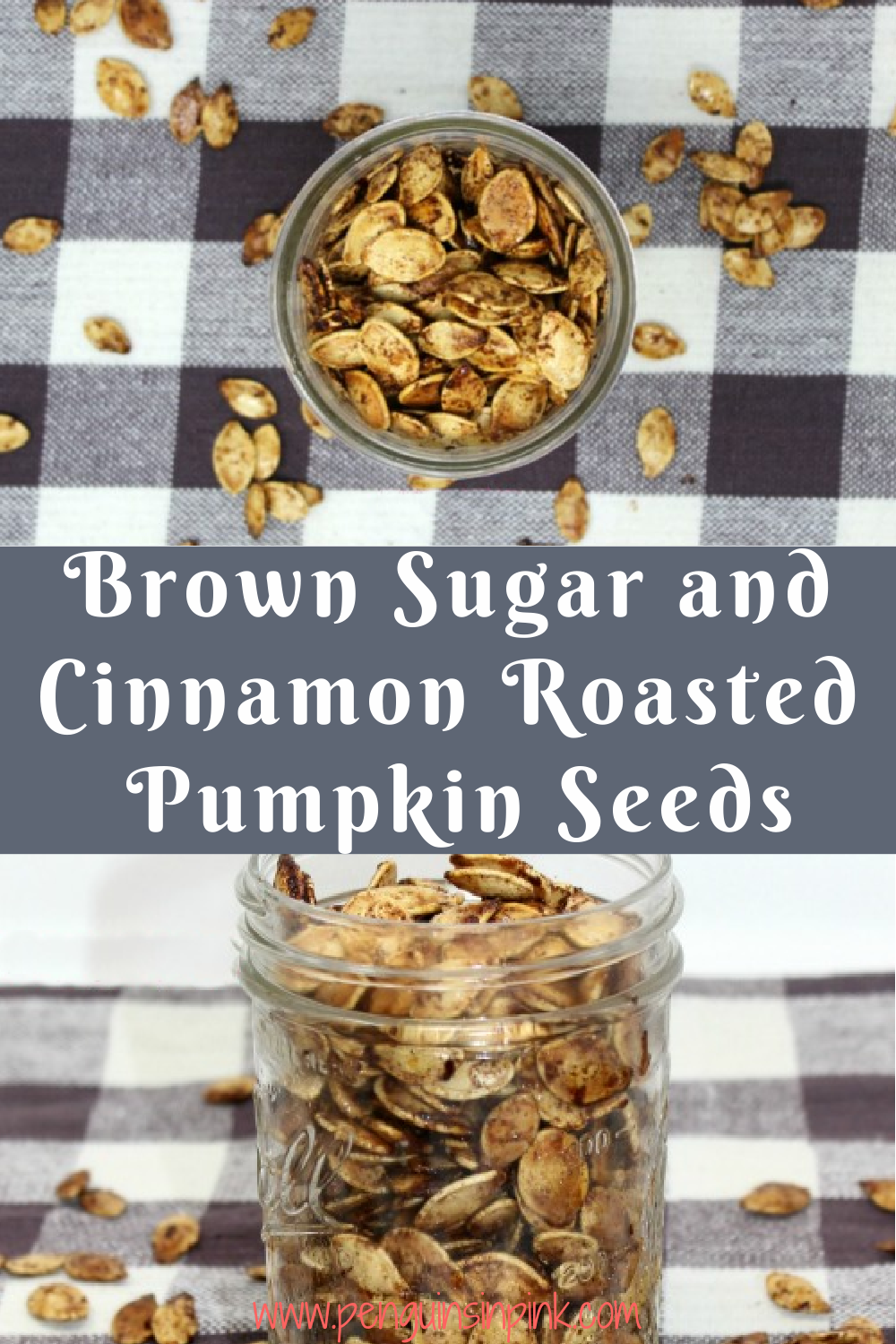 Brown Sugar and cinnamon combine to make a sweet and crunchy roasted pumpkin seeds. Brown Sugar and Cinnamon Roasted Pumpkin Seeds are a great snack that travels well making it perfect for car rides, ball games, hiking, or just watching a movie at home.