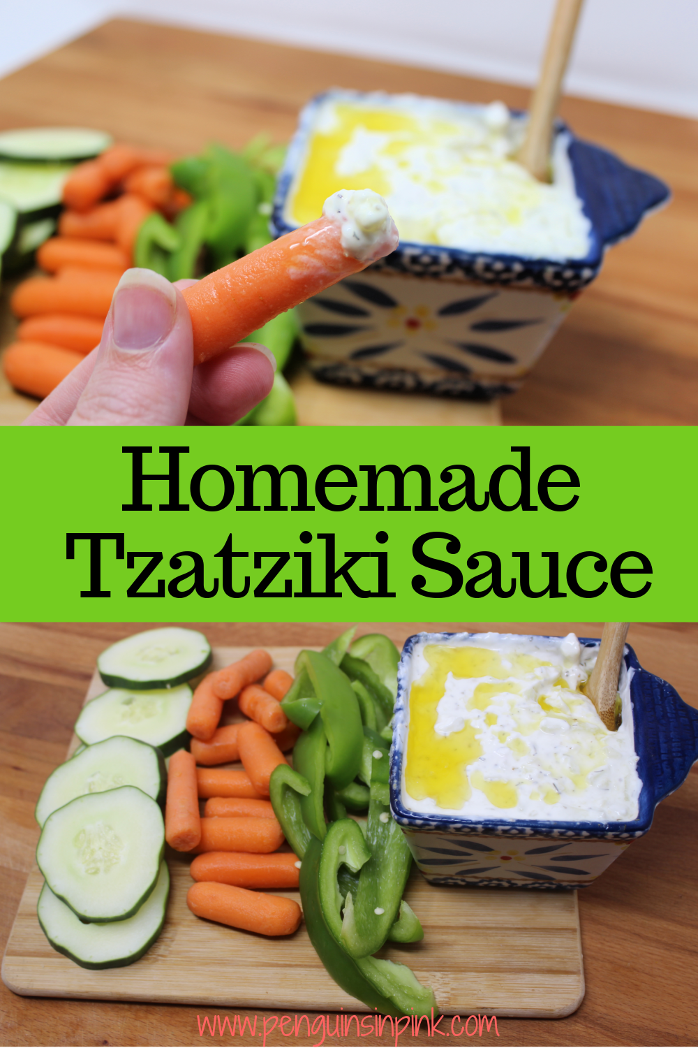 Homemade Tzatziki Sauce is a combination of Greek yogurt and cucumber with a few seasoning. It is fantastic on pitas, salads, and used as a dip.