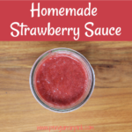 An easy, homemade strawberry sauce made with only three ingredients and freezer friendly too. Perfect on top of Greek yogurt, oatmeal, pancakes, waffles, and pound cake.
