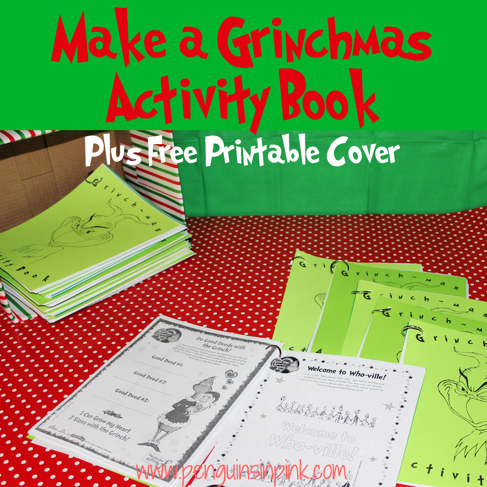 How to make an epic, fun filled Grinchmas Activity Book. This book is packed with coloring pages, word searches, math problems, and many more activities.