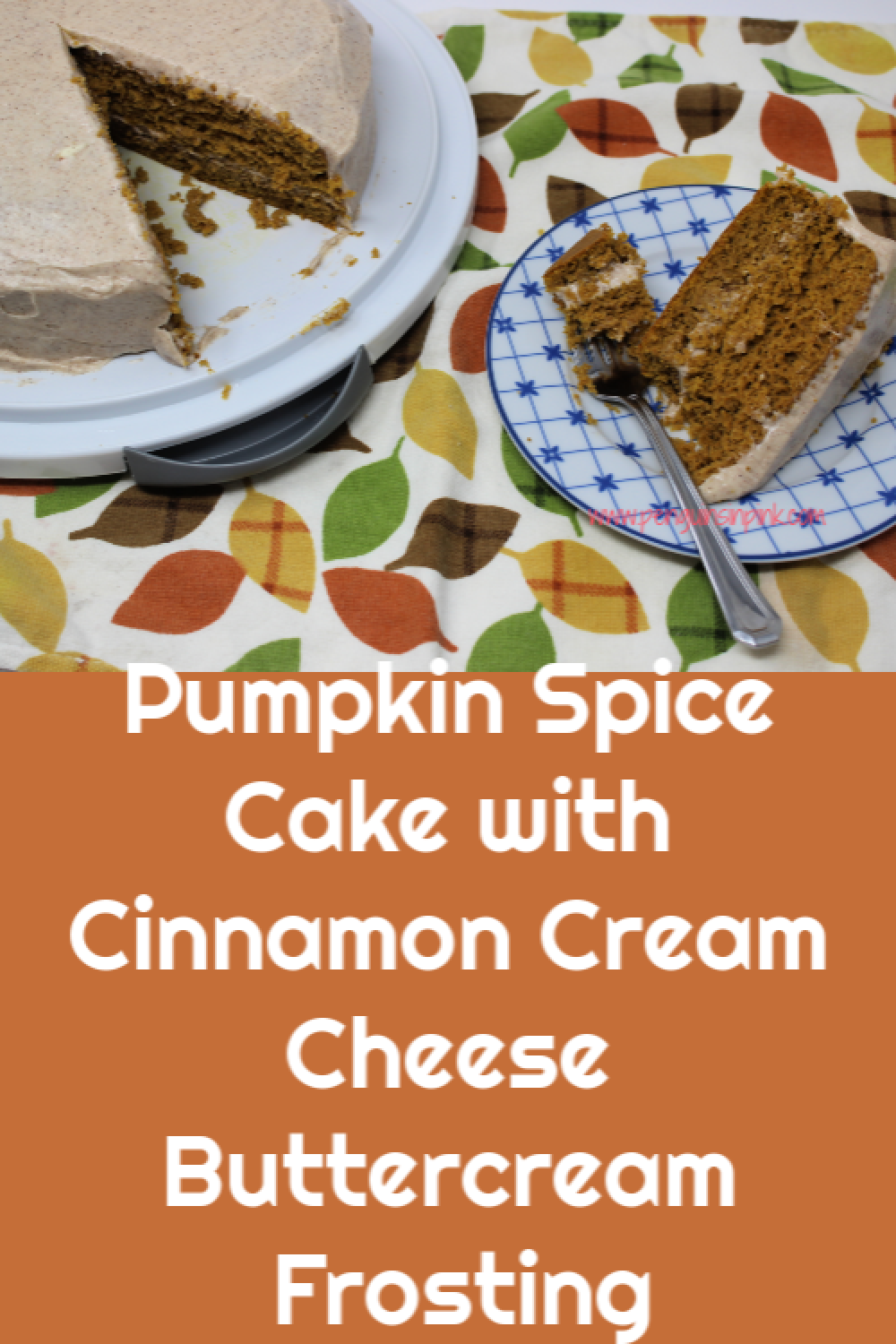 Pumpkin Spice Cake with Cinnamon Cream Cheese Buttercream Frosting is a moist pumpkin cake topped with lush cinnamon cream cheese buttercream frosting.
