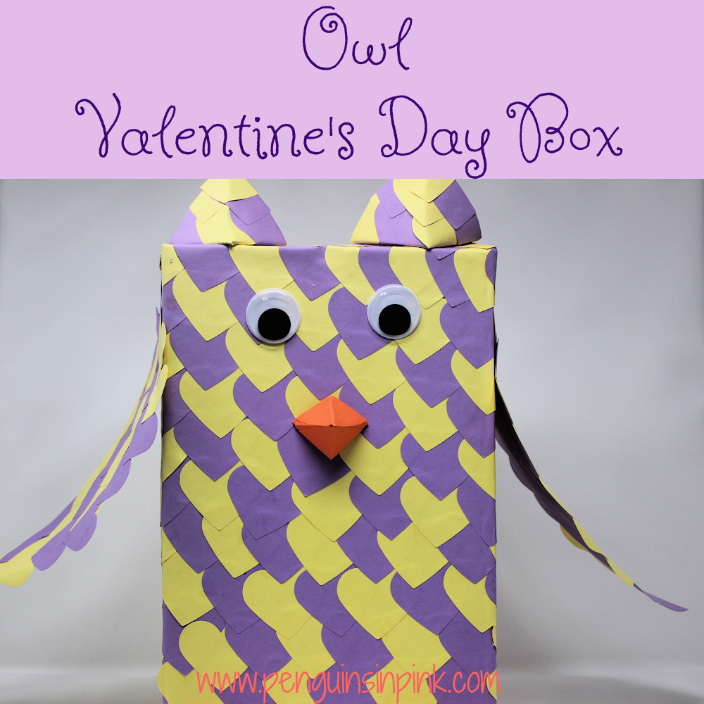 This Owl Valentine's Day Box is perfect for your little owl lover. The box is fun and unique. Working together this project can be completed in about an hour.