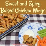 Honey and habanero hot sauce combine to smother baked chicken wings creating a delicious sweet and spicy baked chicken wings.